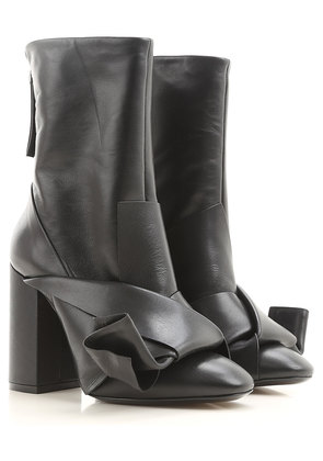 Boots for Women, Booties On Sale in Outlet, Black, Leather, 2017, 3.5 4 4.5 5 5.5 6 6.5 Prada