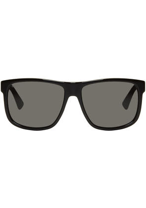 Gucci Black Oversized Rectangular Sunglasses