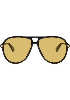 Gucci Black Urban Pilot Sunglasses