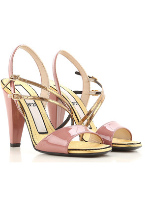 Sandals for Women On Sale, Gold, satin, 2017, 3 3.5 4 4.5 5.5 6 7.5 8.5 N°21