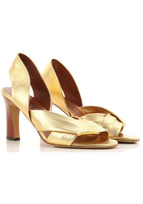Sandals for Women On Sale, Gold, Leather, 2017, 3.5 7.5 Michel Vivien
