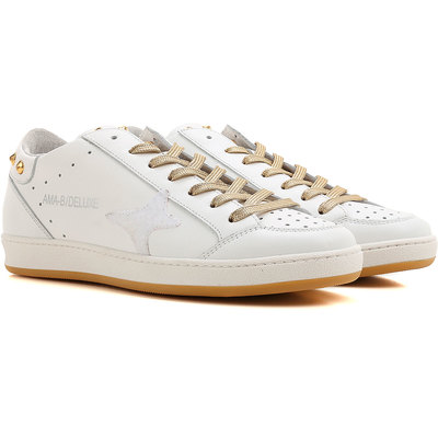 Sneakers for Women On Sale, White, Leather, 2017, EUR 37 - UK 4 - USA 6.5 EUR 38 - UK 5 - USA 7.5 EUR 39 - UK 6 - USA 8.5 Ama brand