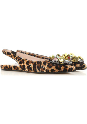 Alberto Gozzi Ballet Flats Ballerina Shoes for Women On Sale, Leopard, Fabric, 2017, 4 5.5 6 8.5