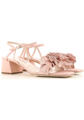 Alberto Gozzi Sandals for Women On Sale, Peach Pink, Suede leather, 2017, 4 4.5 5.5 6 7.5
