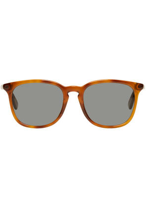 Gucci Tan Tortoiseshell Square Sunglasses