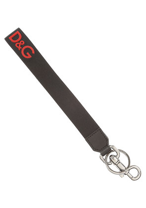 Dolce & Gabbana Key Chain for Men, Key Ring On Sale, Black, Nylon, 2017