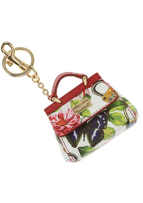 Dolce & Gabbana Key Chain for Women, Key Ring On Sale, White, Leather, 2017