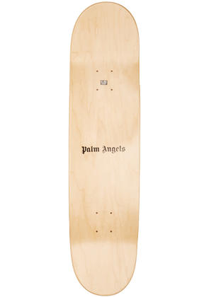 Palm Angels Beige and Black adios Logo Board