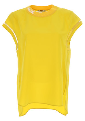 Top for Women On Sale, Yellow, Silk, 2017, 6 8 Fendi