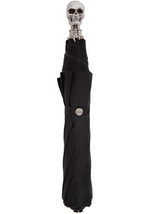 Alexander Mcqueen Black and Silver Collapsible Skull Umbrella
