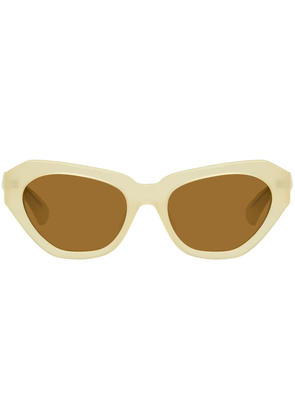 Dries Van Noten Ivory Linda Farrow Edition 166 C4 Sunglasses