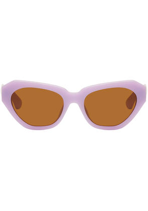 Dries Van Noten Purple Linda Farrow Edition 166 C3 Sunglasses