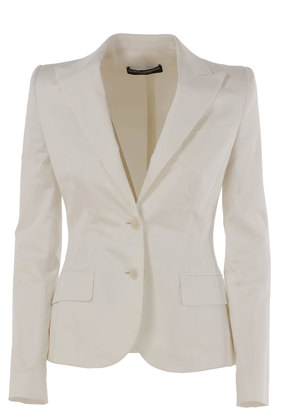 Dolce & Gabbana Blazer for Women On Sale in Outlet, White, Cotton, 2017, 12 14