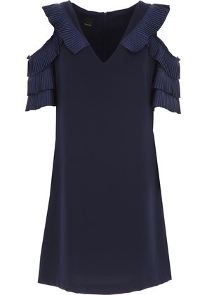 Dress for Women, Evening Cocktail Party On Sale, Navy Blue, polyestere, 2017, 10 12 14 Pinko