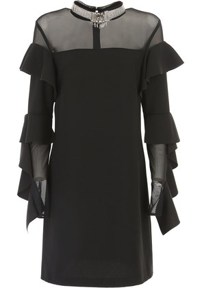 Dress for Women, Evening Cocktail Party On Sale, Black, polyester, 2017, 8 Pinko