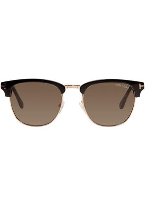 Tom Ford Black and Gold Henry Sunglasses