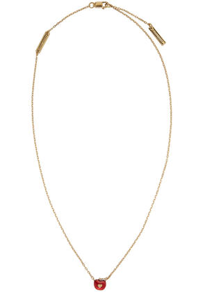 Marc Jacobs Gold Apple Necklace
