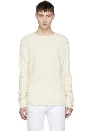 Helmut Lang Off-white Re-edition Elbow Cut Out Sweater