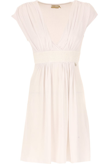 Dress for Women, Evening Cocktail Party On Sale, White, Viscose, 2017, 10 12 6 8 Met