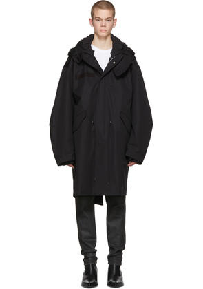 Helmut Lang Black Re-edition Hooded Parka