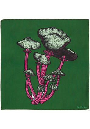 Paul Smith Green Characters Pocket Square