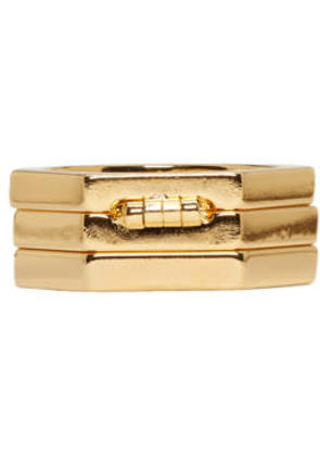 Valentino Gold Valentino Garavani Stacked Ring