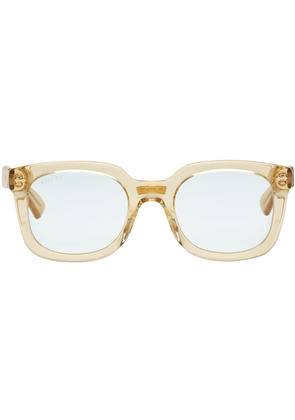 Gucci Yellow Opulent Luxury Square Sunglasses