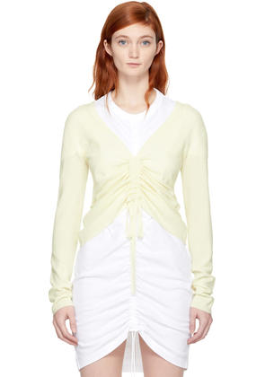 T By Alexander Wang Ivory Merino Ruched Sweater