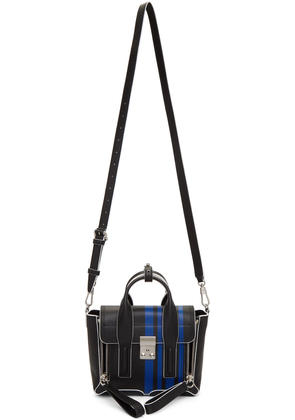 3.1 Phillip Lim Black and Blue Mini Pashli Satchel