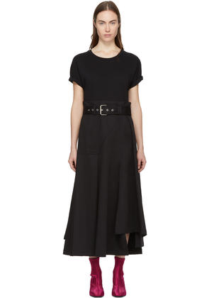 3.1 Phillip Lim Black Jersey T-shirt Dress