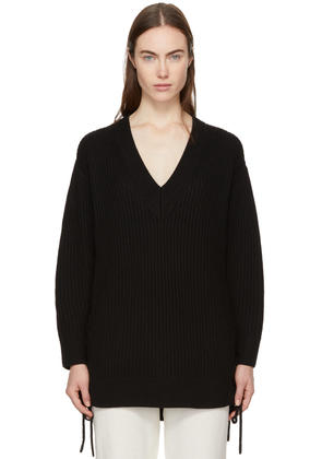 Rag and Bone Black Ivy Lace-up Sweater