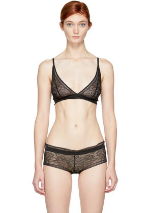 Calvin Klein Underwear Black Obsess Unlined Triangle Bra