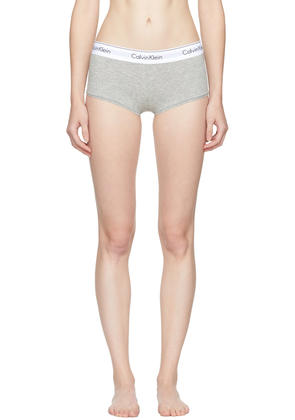 Calvin Klein Underwear Grey Modern Cotton Boy Shorts