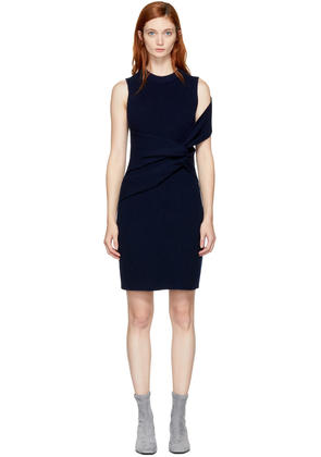 3.1 Phillip Lim Navy Draped Twist Dress