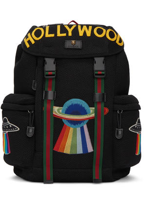 Gucci Black Mesh hollywood Backpack