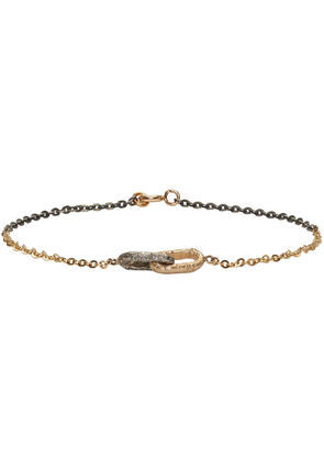 Pearls Before Swine Silver and Gold Double Link Bracelet
