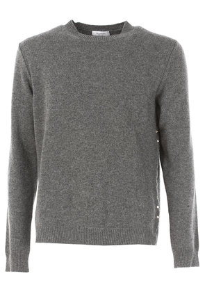 Valentino Sweater for Men Jumper On Sale in Outlet, Grey, Cashmere, 2017, L M