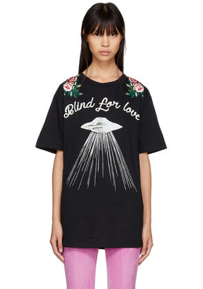 Gucci Black blind For Love Ufo T-shirt