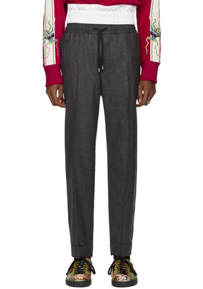 Gucci Grey Flannel Wool Trousers