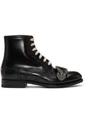Gucci Black Queercore Brogue Boots