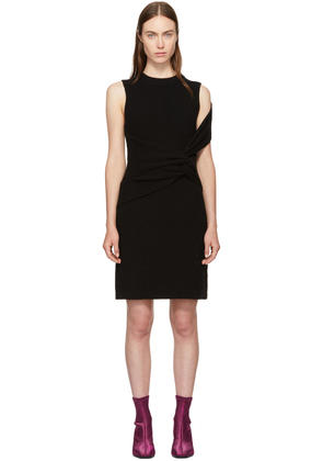 3.1 Phillip Lim Black Ribbed Twist Dress