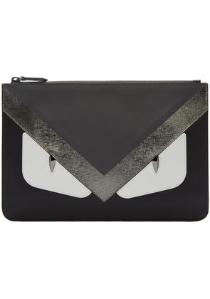 Fendi Black and Grey bag Bugs Pouch