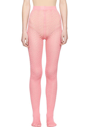 Gucci Pink Chevron Tights