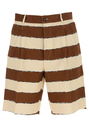 Dolce & Gabbana Shorts for Men On Sale in Outlet, Brown, Flax, 2017, 30 32 34