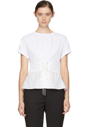 3.1 Phillip Lim White Corset T-shirt