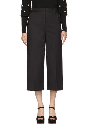3.1 Phillip Lim Black Wide-leg Cuffed Trousers