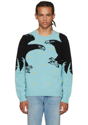 Gucci Blue loved Eagle Sweater