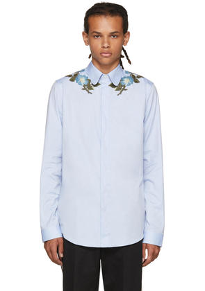 Gucci Blue Embroidered Shirt