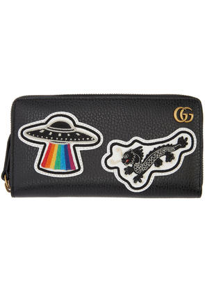 Gucci Black Ufo and Chinese Dragon Wallet