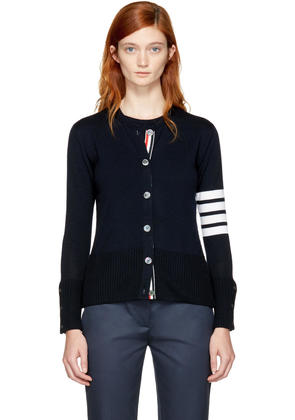 Thom Browne Navy Two-in-one Four Bar Cardigan